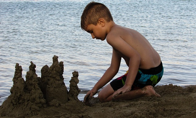 hrad z písku